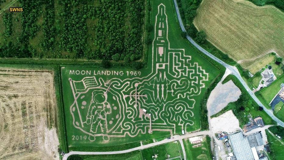 A-maze-ing: U.K. farm creates Apollo 11 cornfield maze depicting Moon landing