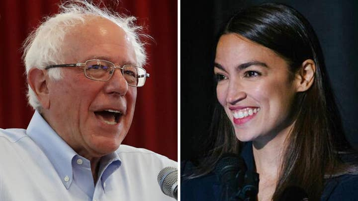 Alexandria Ocasio-Cortez and Bernie Sanders call for a national emergency over climate change