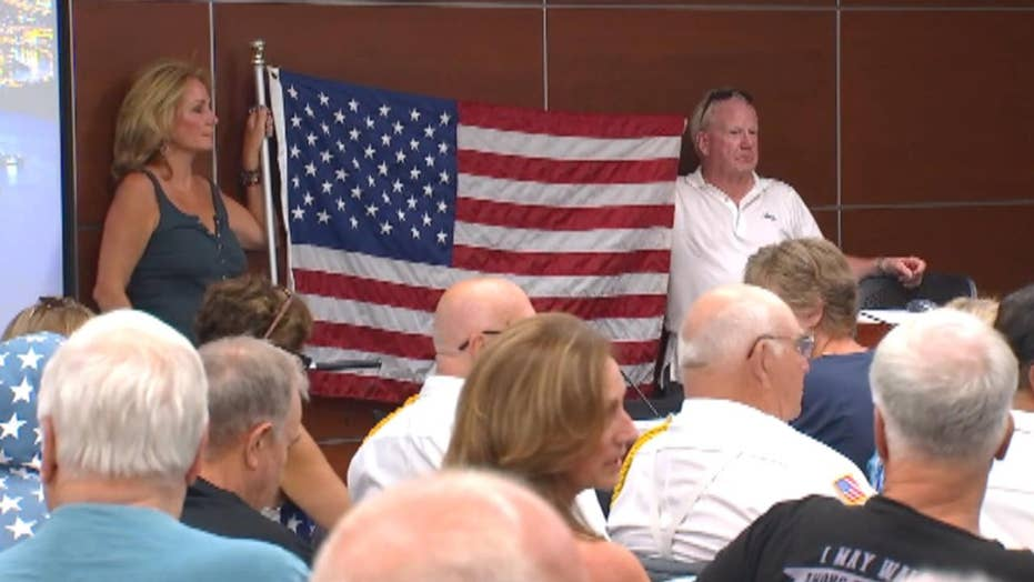 Minnesota village final city legislature retreat preference on stealing Pledge of Allegiance