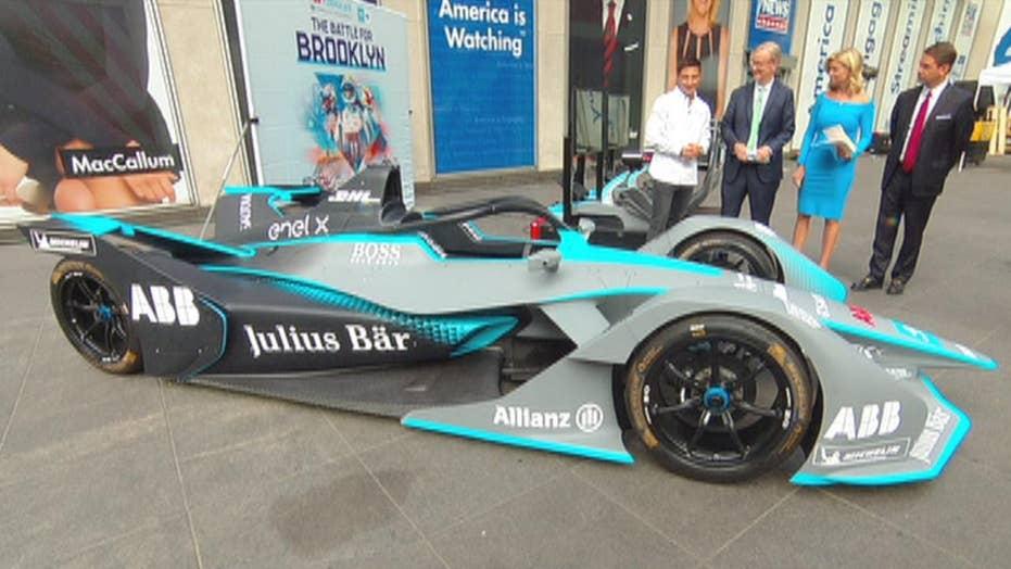 Formula E racing comes to Fox Square ahead of New York City ePrix