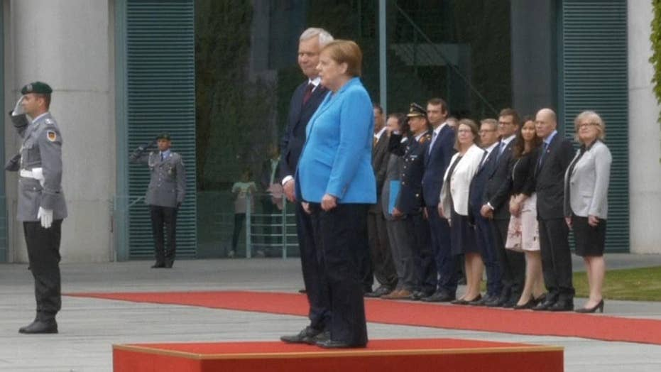 Angela Merkel seen shaking for third time in recent weeks
