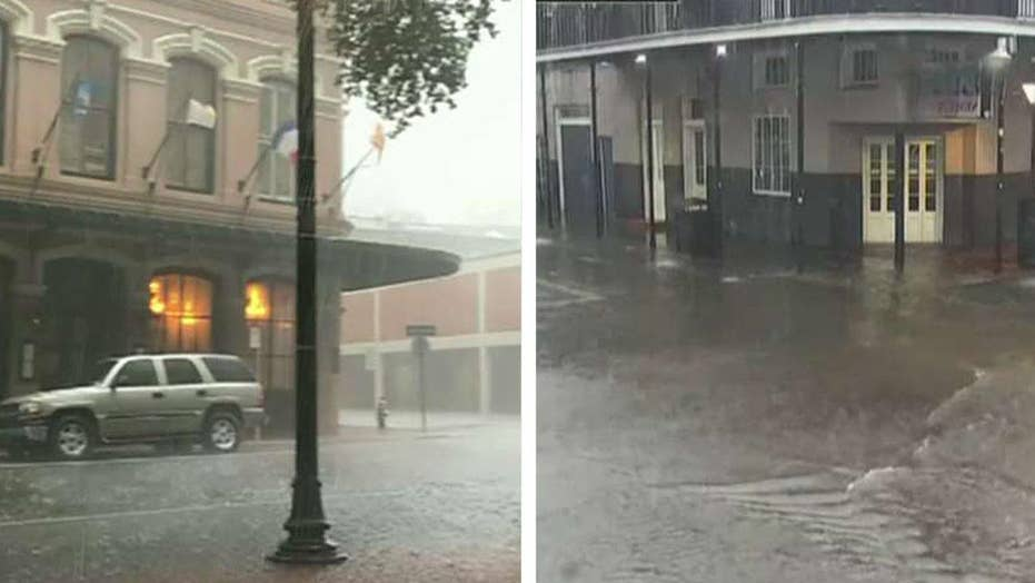 Streets flood, whirly speckled as serious storms strike New Orleans