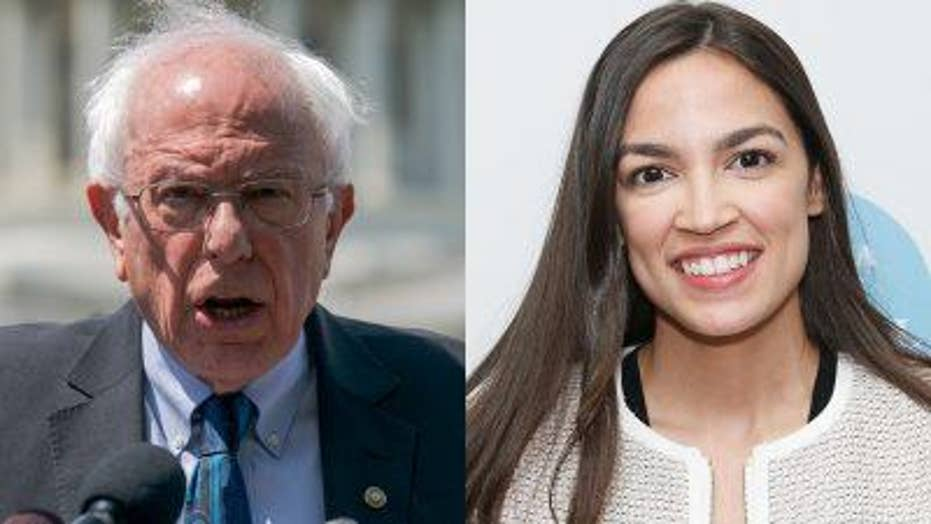 The Five on AOC joining with Bernie Sanders on climate change