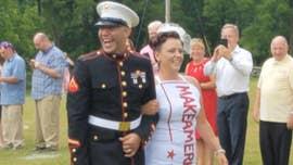Michigan couple's wedding theme celebrates America, Trump