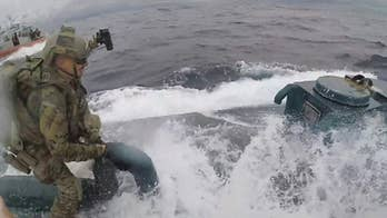 US Coast Guard storms submarine carrying thousands of pounds of drugs