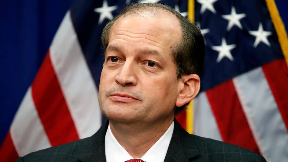 Labor secretary Alex Acosta defends purpose in Jeffrey Epstein's defence deal