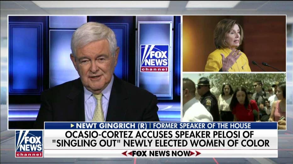 Gingrich on Nancy Pelosi's feud with Ocasio-Cortez, other freshmen Dems