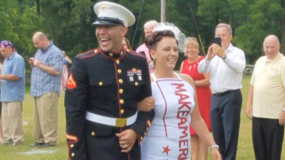 Couple have MAGA-themed wedding