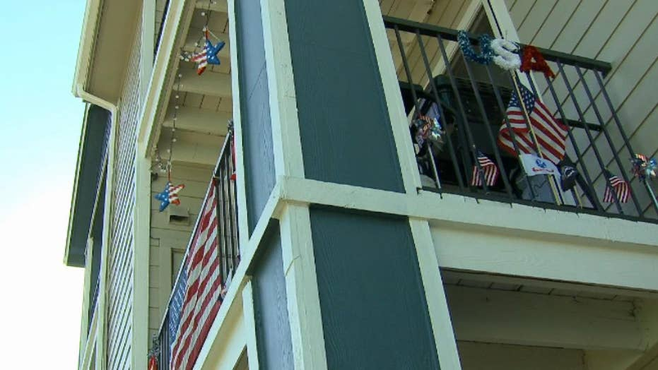 Disabled Army veteran risks eviction from apartment over displaying the American flag