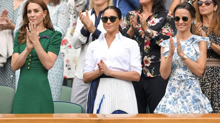 Meghan Markle and Kate Middleton attend Wimbledon final