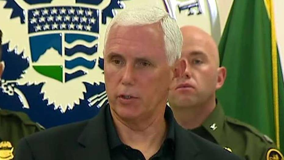 Mike Pence calls on Congress to fix the crisis at the border after visiting migrant detention facility