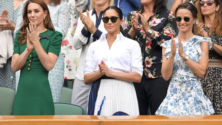 Meghan Markle and Kate Middleton attend Wimbledon final