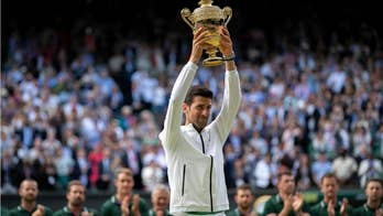 Djokovic reveals 鈥榮illy鈥� mental trick to help him deal with crowd at Wimbledon