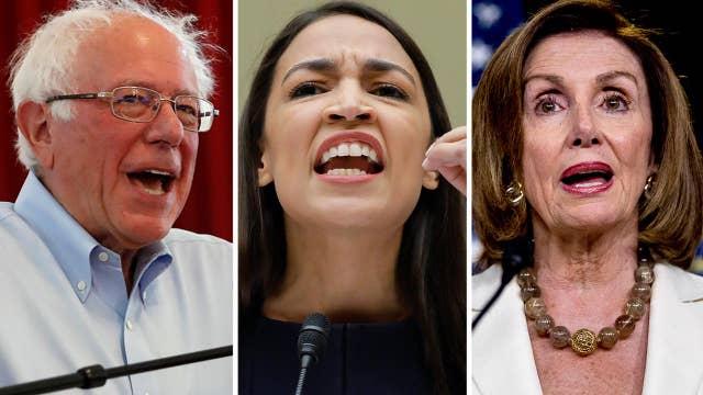 Sanders backs progressive Democrats in fight with Pelosi