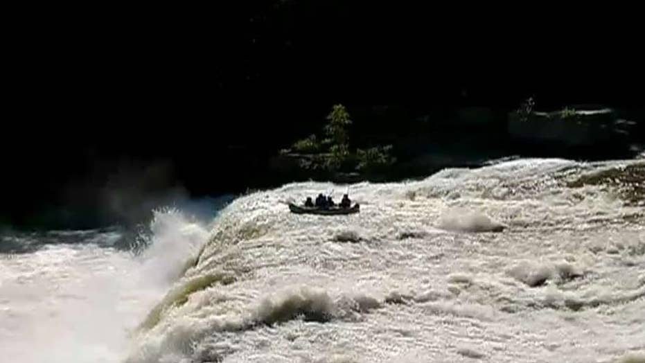 Rafters survive after being tossed over waterfall in Pennsylvania park