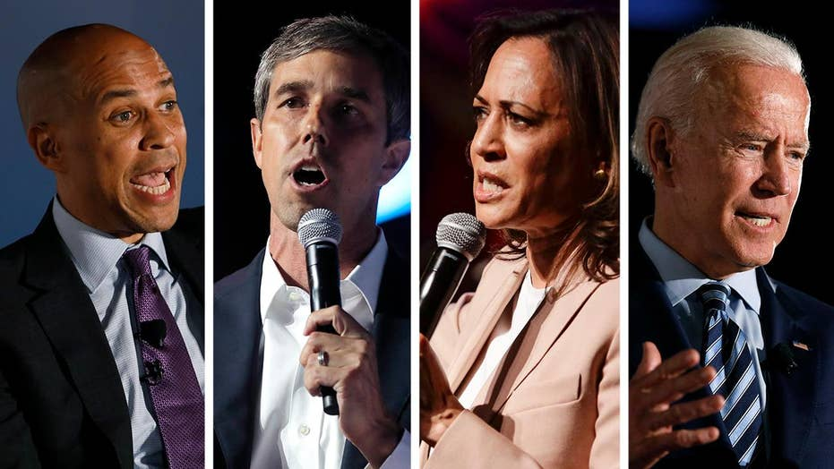 Democratic candidates condemn Trump for tweets about House members