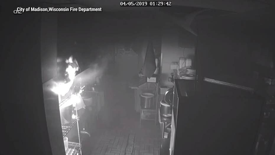 Caught on Video: Fire started from tempura flakes