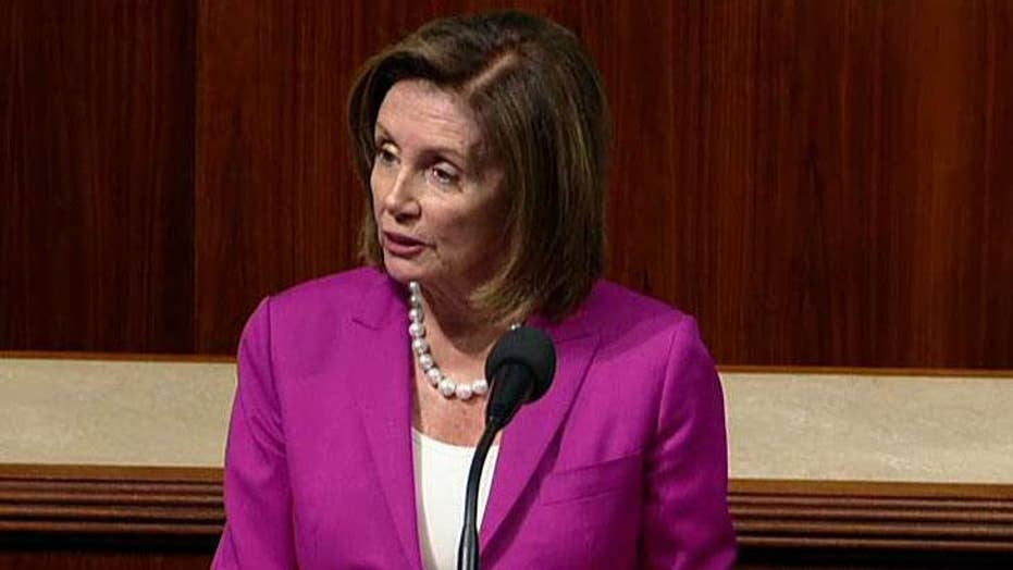 A floor fight erupts after Nancy Pelosi urges Congress to vote to condemn President Trump's 'racist tweets'