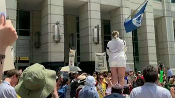 Nearly a dozen protesters arrested outside of ICE headquarters in Washington, D.C.