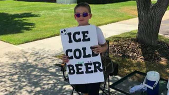 Utah boy's 'ice cold beer' advertisement catches attention of police