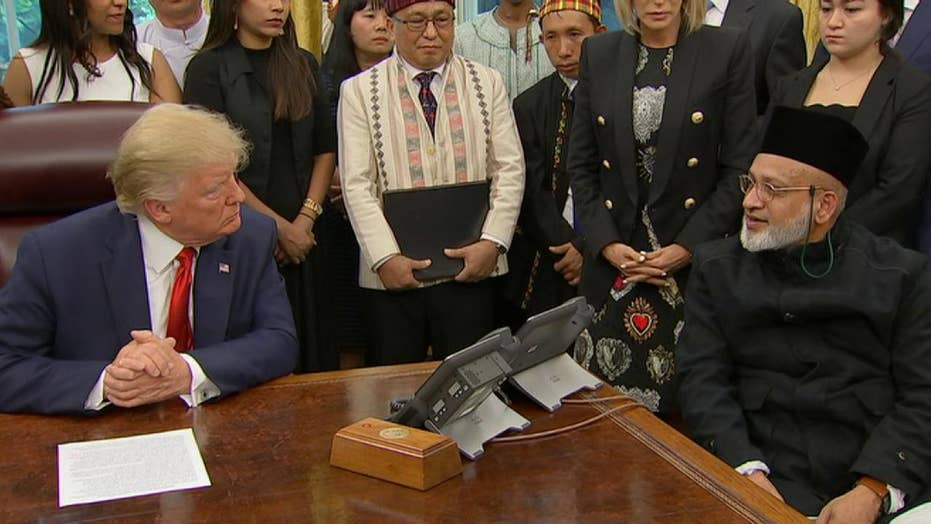 President Trump hears the stories of people persecuted for their religion