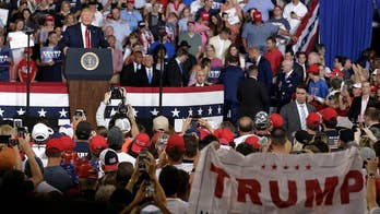 Trump supporters chant 'send her back' during campaign rally in North Carolina