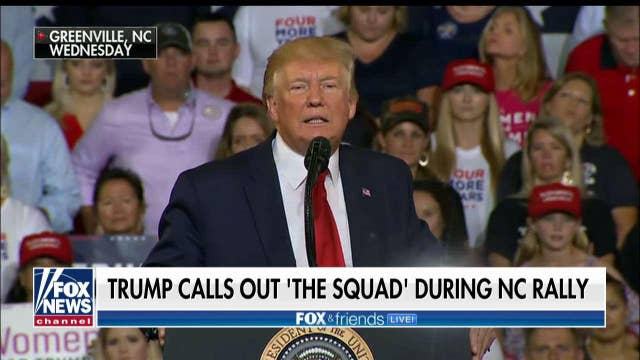 'Fox & Friends' hosts on Trump's North Carolina rally: 2020 race is becoming Trump vs. The Squad