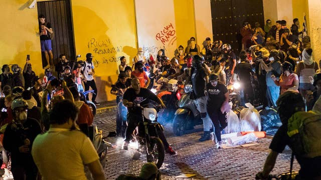 San Juan in cleanup mode after thousands pack streets to protest governor