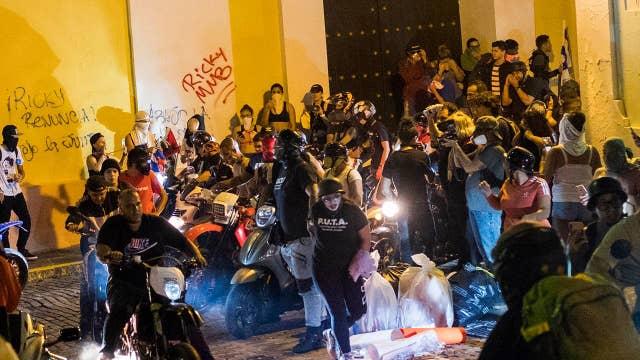 Protesters in Puerto Rico demand governor's resignation