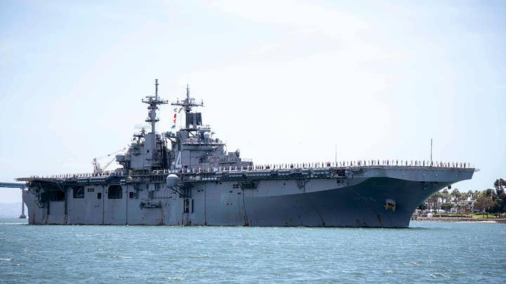 US warship destroys an Iranian drone while transiting the Strait of Hormuz
