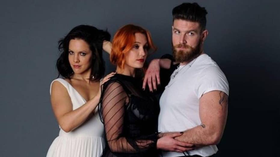Polyamorous 'throuple' fire back at critics of their relationships