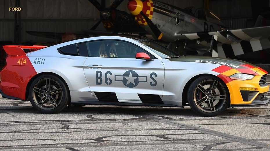 Ford honors World War 2 flying ace 'Bud' Anderson with custom Mustang tribute car