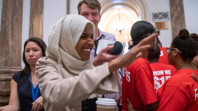 Rep. Ilhan Omar greeted by supporters in Minnesota after Trump's controversial comments