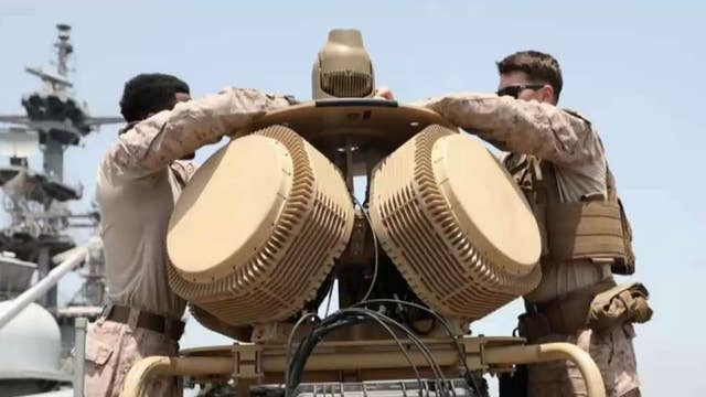 Military officials use electronic jamming device to take down Iranian drone
