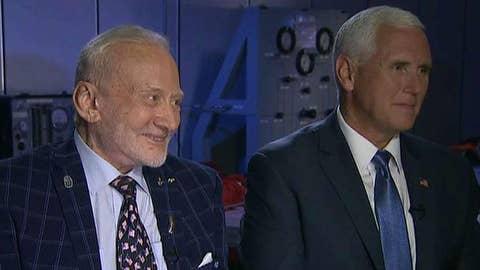 Pence, Buzz Aldrin talk about moon landings