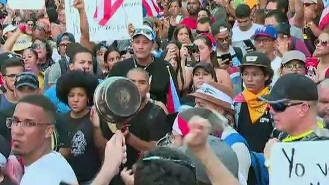 Protestors call on Puerto Rican governor to resign