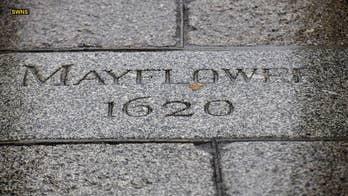 Historic Mayflower Steps found under women's bathroom in English pub