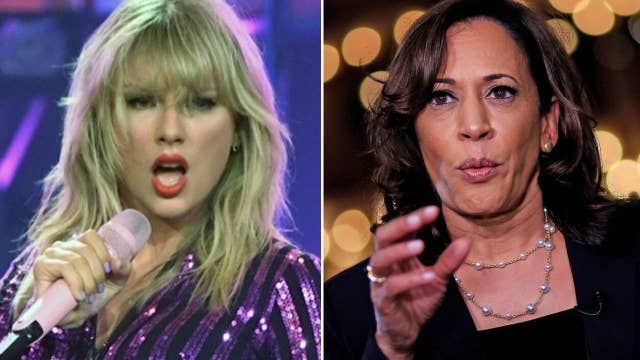 Taylor Swift fans not happy with Kamala Harris after fundraising event at Scooter Braun's home
