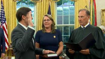 Mark Esper sworn in as new secretary of defense
