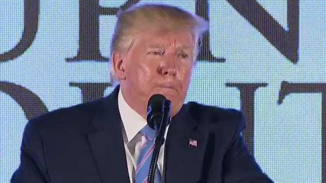 President Trump knocks Rashida Tlaib for 2016 speech: 'This is not a sane person' thumbnail