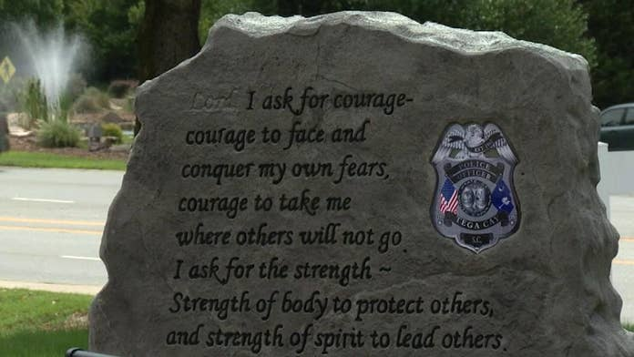 South Carolina city takes down 'Lord' monument honoring fallen officers after it 'divided' town