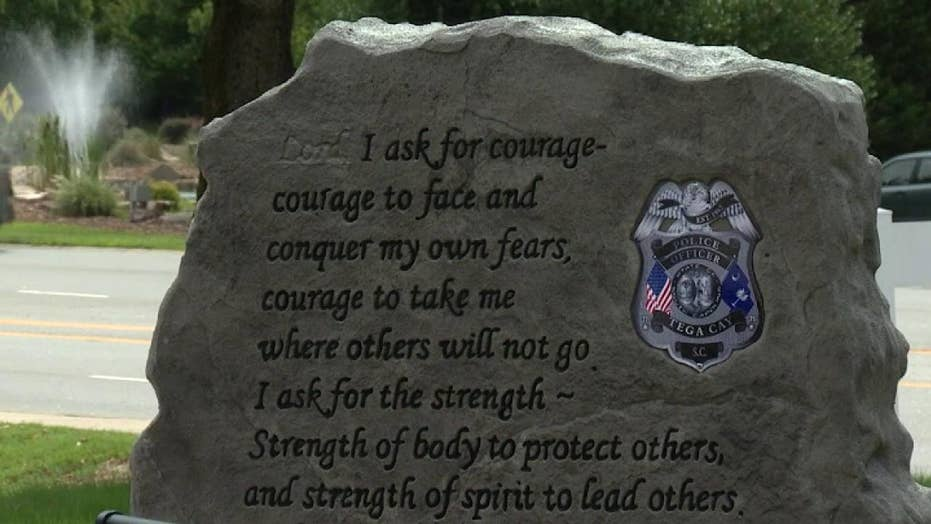 Controversy after the word 'Lord' is removed from a memorial for fallen officers in South Carolina