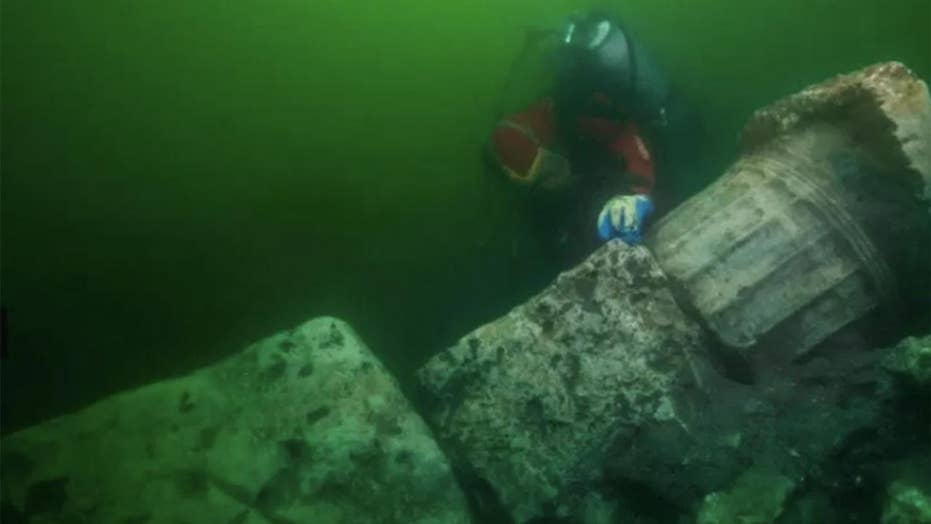 Mysterious destroyed temple and treasure discovered in underwater 'Egyptian Atlantis'