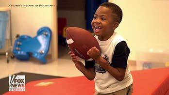 First child to receive a double hand transplant excels in his abilities