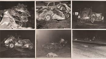 Rare photos of James Dean's fatal accident scene being auctioned