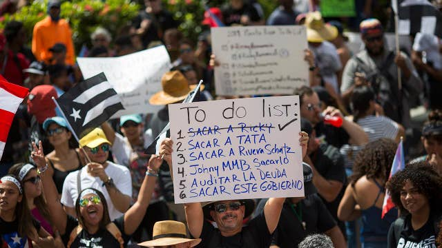 Puerto Rico governor's resignation has not stopped protests as demonstrators look to root out corruption