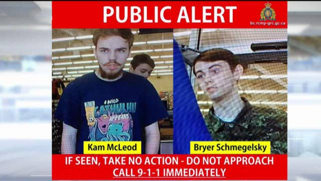 Canadian police confirm two sightings of teen murder suspects in wilderness