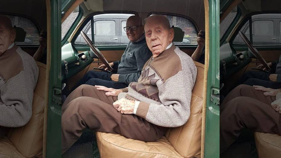 100-year-old's car restored as tribute to him and his late wife