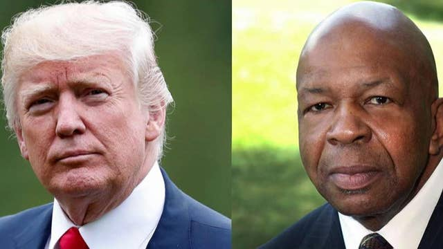 Trump denies accusations of racism after launching new attacks on Rep. Elijah Cummings