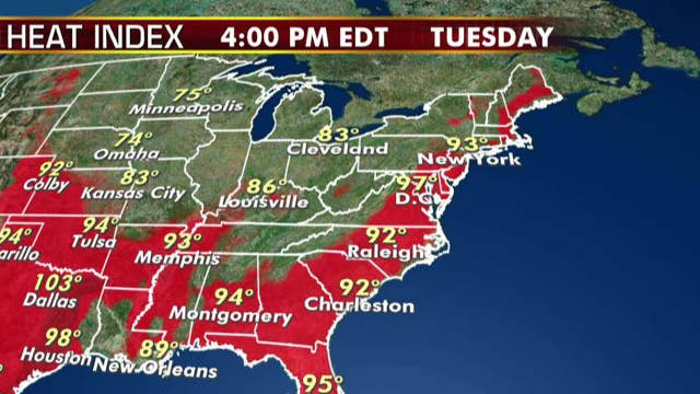 National forecast for Tuesday, July 30